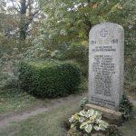 zarośnięty cmentarz z przełomu XiX i XX wieku