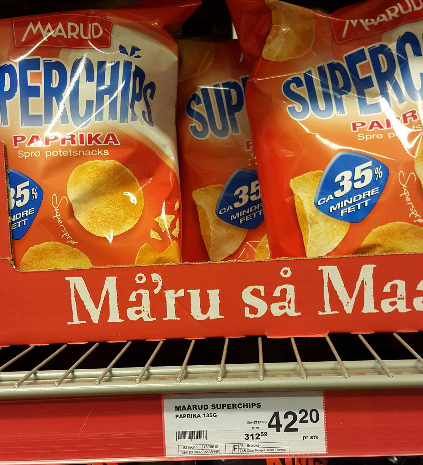 Cena chipsów, Norwegia